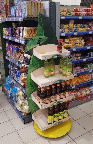 Деревянная Рекламная стойка для напитков